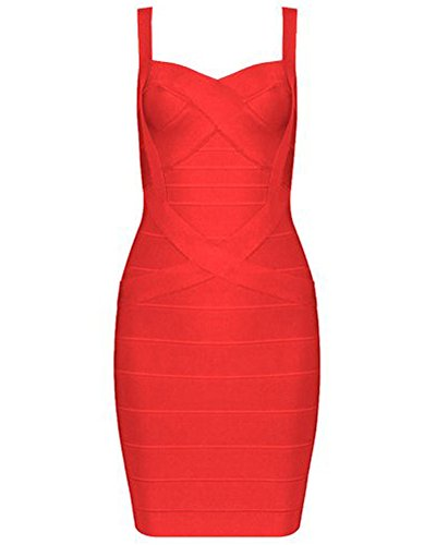 Whoinshop Frauen Rayon Sleeveless Spaghetti Strap Bodycon Mini Celebrity Verbandkleid f¨¹r die...