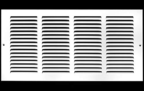 18'w X 10'h Steel Return Air Grilles - Sidewall and Ceiling - HVAC Duct Cover - White [Outer Dimensions: 19.75'w X 11.75'h]
