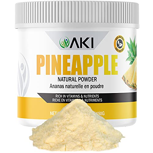 Aki Natural PINEAPPLE Powder Extract Pure Dried Powdered Rich In Vitamin C Ideal As Booster Supplement for Protein Smoothies Tea Cooking Seasoning Juice Drinks Ice Cream