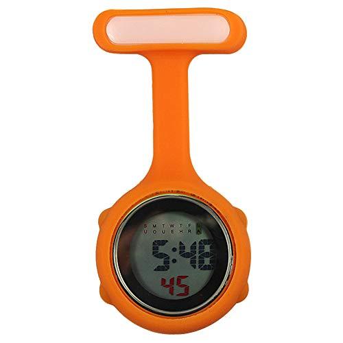 Kuizhiren1 Broche para reloj de enfermera, de silicona con pin/clip, 1 esfera...