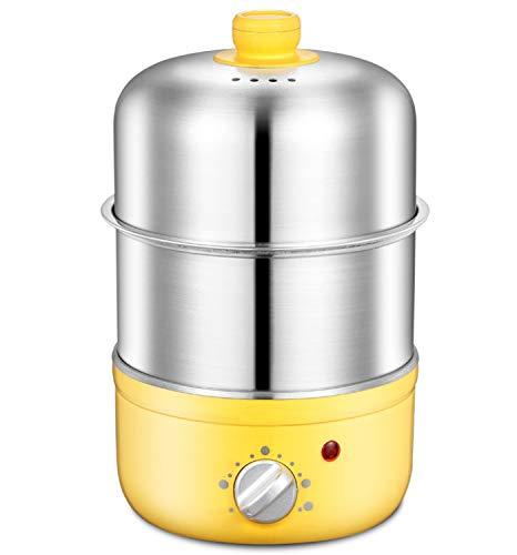 Elektrischer Eierkocher, Edelstahl-Tablett Mit 14 EierkapazitäT, Quick Electric Egg Cooker, füR Den GeschirrspüLer Sicher, VerfüGen üBer Einen Automatischen Absaug- Und Anti-Trockenschutz