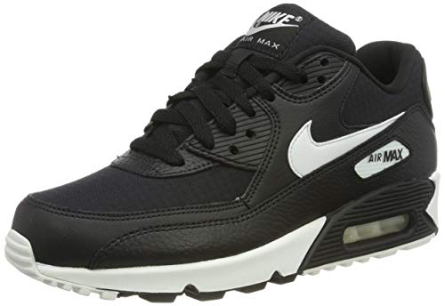Nike Damen WMNS AIR MAX 90 Laufschuhe, Schwarz (Black/Summit White/Black/Black 060), 36.5 EU