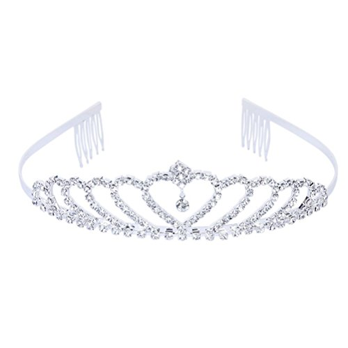 Pixnor Bling Bling cerimonia nuziale Matrimonio Strass Corona principessa diadema Tiara cerchio brillante