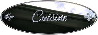 Plaque de Porte Cuisine en Plexi Miroir Autocollant - Plaque Miroir Adhésive - Dimensions 16 x 6 cm - Décoration pour Port...