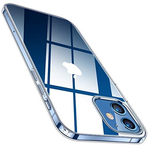 TORRAS 全透明 iPhone 12 mini 用 ケース 薄型 軽量 超耐衝撃 10倍黄変防止 ソフトtpu 画面レンズ保護 5.4インチ アイホン12ミニ用カバー クリスタル クリア Shiny Series