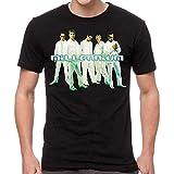 GLOBAL Backstreet Boys Men's Cut Out Slim-Fit T-Shirt L, Black