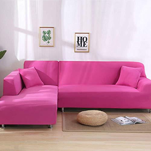 GH-YS Funda para sofá, Fundas elásticas para sofá, Funda Antideslizante para sofá, cojín para Asiento Doble, Fundas para Esquinas, Funda para sofá, Color Rosa, Rojo, Asiento Doble, 145 ~