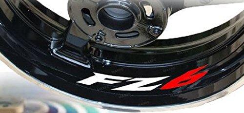 4x Felgenaufkleber (Farbwahl) FAZER FZ6 FZ 6 FZ-6 Yamaha Felgenrandaufkleber Felgenbettaufkleber Sticker