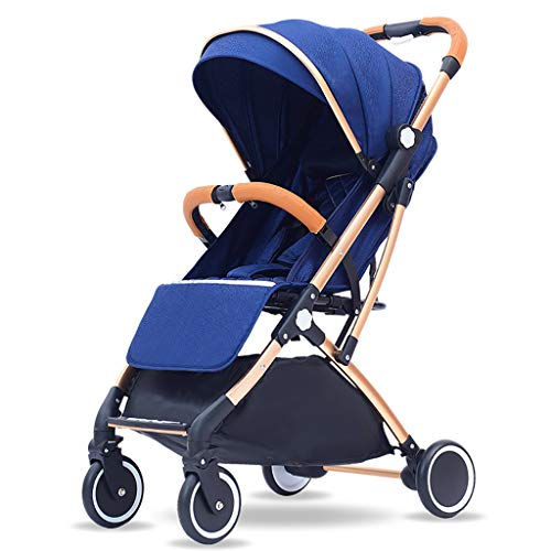 Why Should You Buy WANGLXST Compact Stroller Baby Carriage, Five-Point Seat Belt Pushchair Recline B...
