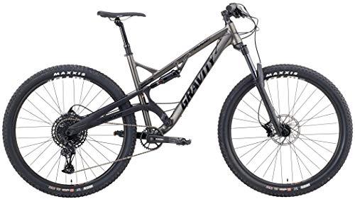 Gravity FSX 29 BoostSram SX Eagle 1X12 Dual Suspension Mountain Bike (Dark Gray, 21' -fits Most 6'3 to 6'5')