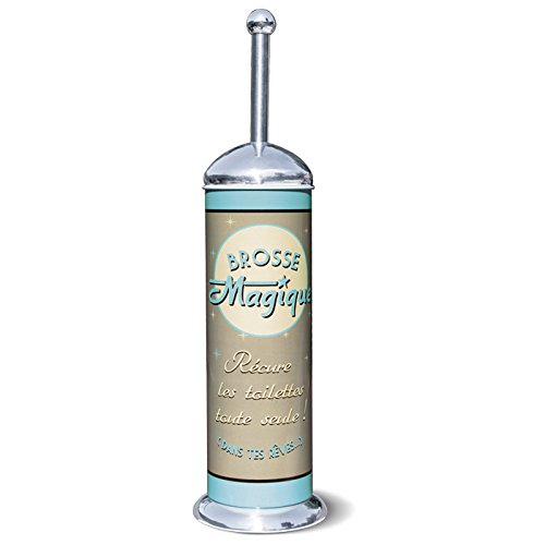 NATIVES Vintage Retrò scopino spazzolino WC per bagno 211307 BROSSE MAGIQUE Récure les toilettes toute seule!