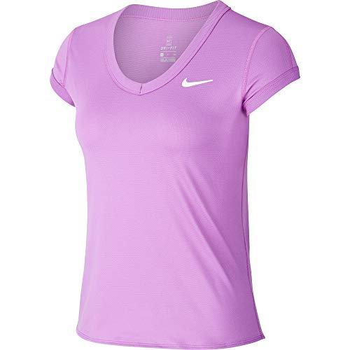 Nike NKCT Dry T-Shirt Femmes, Purple Nebula/White, L