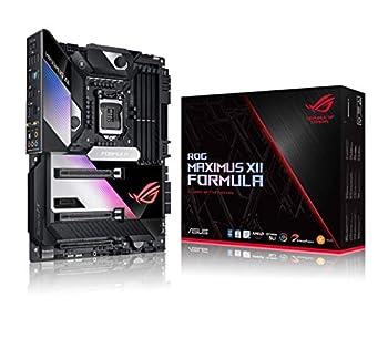 "ASUS ROG Maximus XII Formula Z490  WiFi 6  LGA 1200  Intel 10th Gen  ATX Gaming Motherboard  16 Power Stages EK CrossChill III 10 Gbps & Intel 2.5Gb LAN Triple M.2 2"" Livedash OLED Aura Sync"