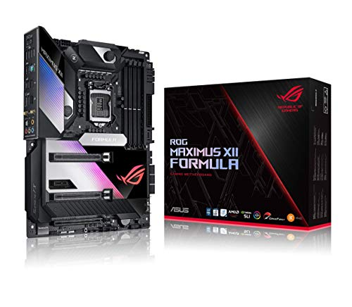"ASUS ROG Maximus XII Formula Z490 (WiFi 6) LGA 1200 (Intel 10th Gen) ATX Gaming Motherboard (16 Power Stages, EK CrossChill III, 10 Gbps & Intel 2.5Gb LAN, Triple M.2, 2"" Livedash OLED, Aura Sync)"