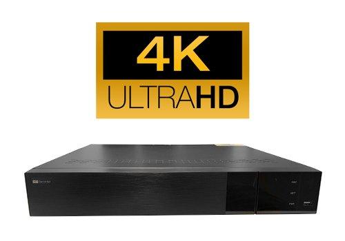 NVR Netzwerk Aufnahmegerät 16 IP Kameras Smartphone/Tablet Zugriff Via App Datensicherung Via USB und Netzwerk HDMI VGA 4K UHD UltraHD