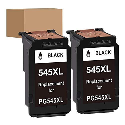 Wiederaufbereitete Druckerpatrone für Canon PG-545 PG-545XL 540 541 mit Canon Pixma TS205 TS3150 TR4550 MG2550S MX495 MX495 TS3150 TR4550 IP2850 MG2450 MG2550 (Schwarz, 2-Pack)