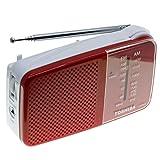 Toshiba Portable Pocket Radio with AM/FM(TX-PR20 RED)