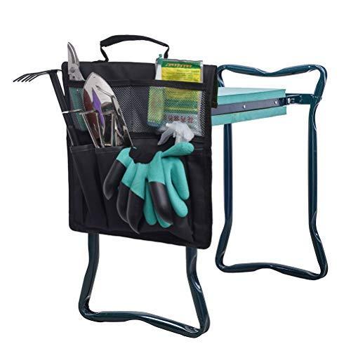 Jackallo Gartenhocker Garten Kniebank Storage Bag Tragbare Werkzeugtasche für Arbeiten um Haus und Garten