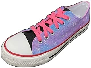 FUNKY N TRENDY Pink Galaxy Low Top Women's Canvas Casual Shoes