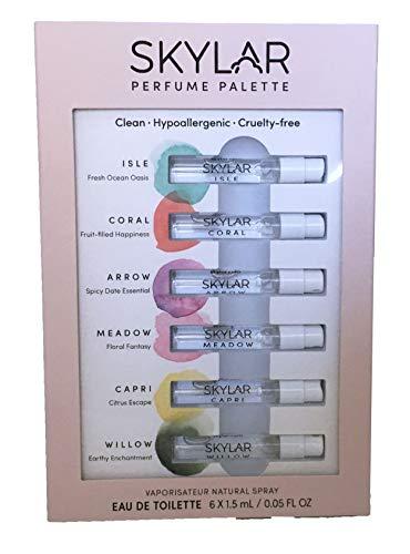 Skylar Perfume Palette - Sampler of Six Unisex Fragrances