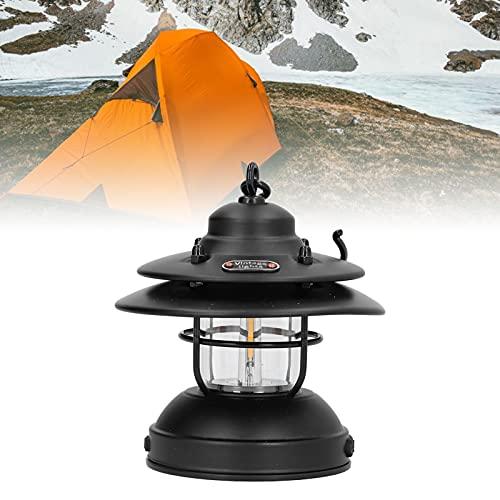 FECAMOS Luces y linternas de Camping, prácticas Luces de Carpa de diseño Retro clásico para Acampar inalámbricas pequeñas para decoración para Barbacoa