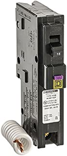 Square D by Schneider Electric HOM115DFC Homeline 15-Amp Single-Pole Dual Function Circuit Breaker, 1-Inch Format