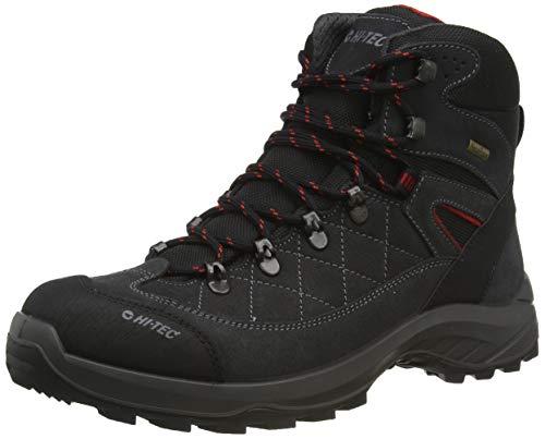 Hi-Tec Bergamo Waterproof, Zapatillas para Caminar Hombre, Gris Oscuro, 41 EU
