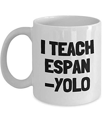 Taza de café divertida Tazas Taza de impresión Amigo Cumpleaños Familia Regalo-Enseño Espan-Yolo