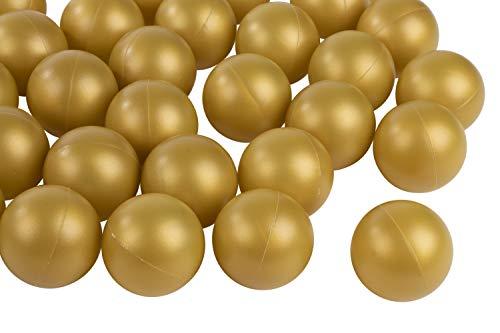 Juvale Bier Pong Bälle - 50er Pack Gold Ping Pong Bälle, goldener Tischtennisball aus Kunststoff, Trinkspielzubehör, perfekt für Champagner Pong, 3,8 cm, für 2-Unzen-Schußbecher