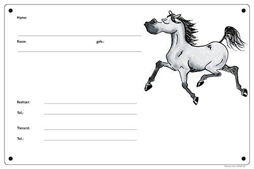 Boxenschild/Stalltafel Angeber (Vollblut/Araber/Warmblut/Pony) Schimmel