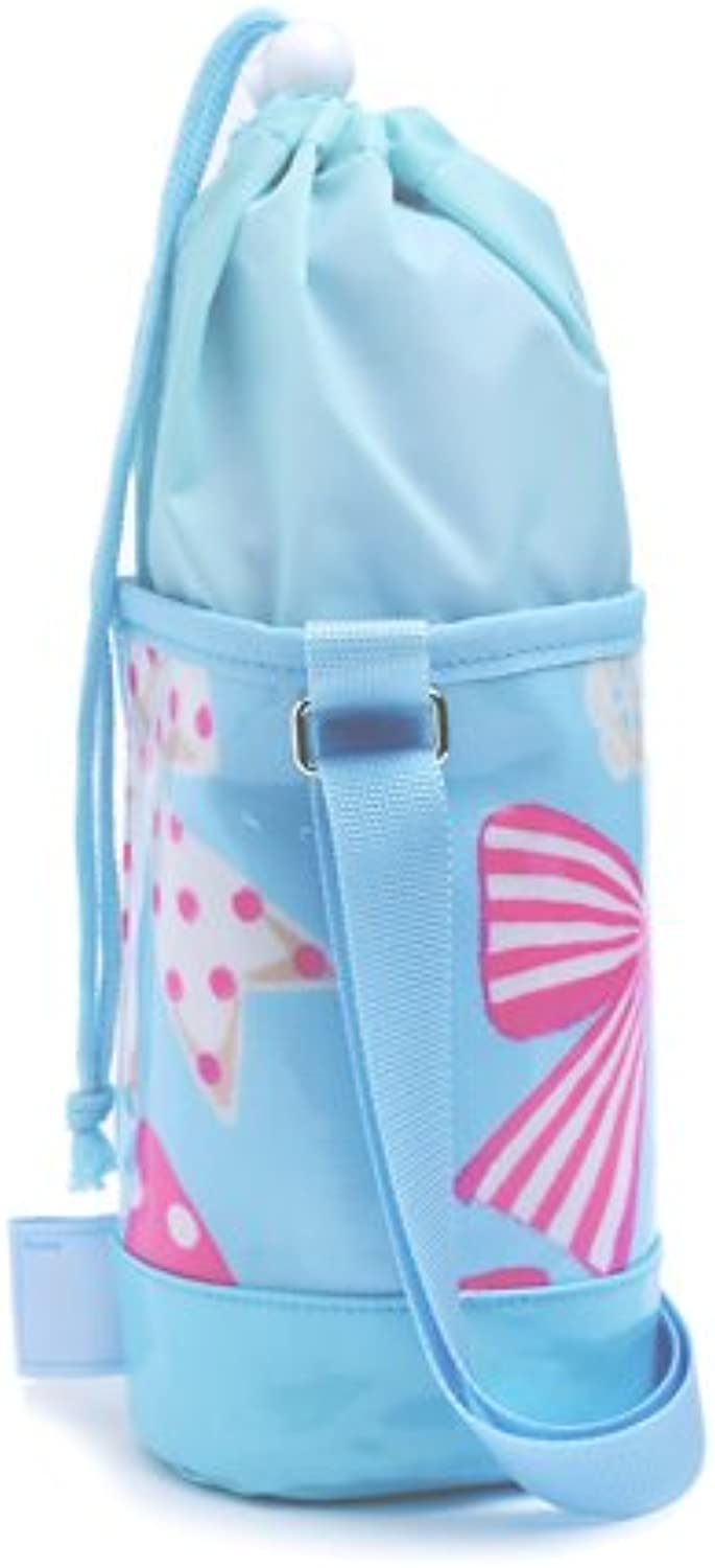 Big ribbon collection made in Japan canteen shoulder swaying of fashionable kids my water bottle cover small type Aqua N7315800