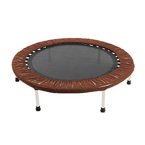ちゃいなび トランポリン ゴムバンド 直径101cm 耐荷重100kg 静音 家庭用 室内 折り畳み (ブラウン)