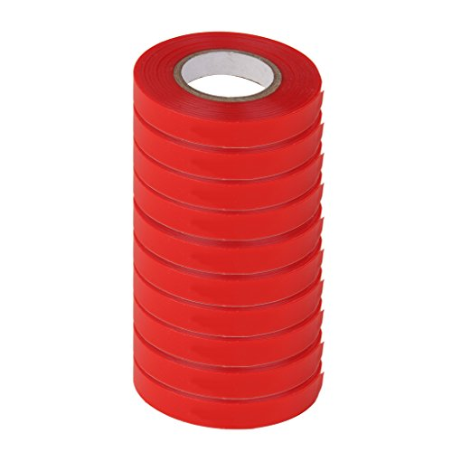 Fenteer 10 Tough Red Tape Ribbon Stretching Pflanzen Von 82ft In/Out Der Krawatte