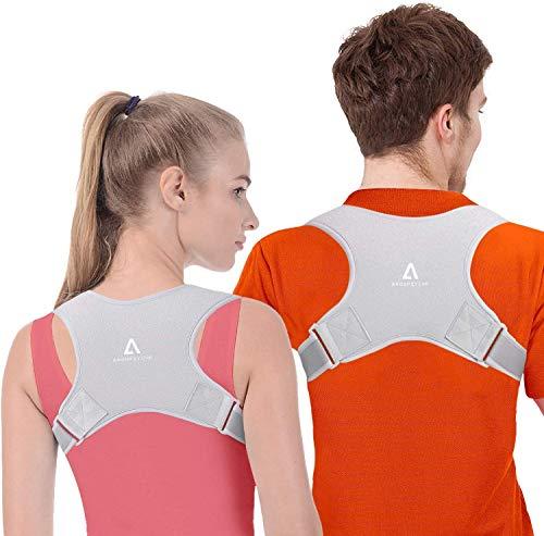 Anoopsyche Corrector de Postura Corrector Espalda Soporte Ajustable para Postura de Espalda Transpirable Corrección Postural Aliviar el Dolor para Mujeres y Hombres (2X Soportes para hombreras) 🔥