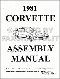 1981 Corvette Reprint Factory Assembly Manual 81