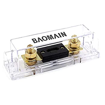 Baomain ANL-50A Electrical Protection ANL Fuse 50 Amp with Fuse Holder 1 Pack