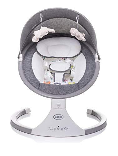 4 BABY Elektrische Kinderschaukel Babywippe Elektrisch Schaukelfunktion Elektrische Babywippe Wippe Schaukel Wippe Babyschaukel Elektrisch Spielzeugbügel Rock\'n Relax