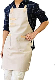 Professional Cooking Kitchen Apron with 2 Side Pocket Towel Pen Holder for Women Men Chef Baking Grill Painting