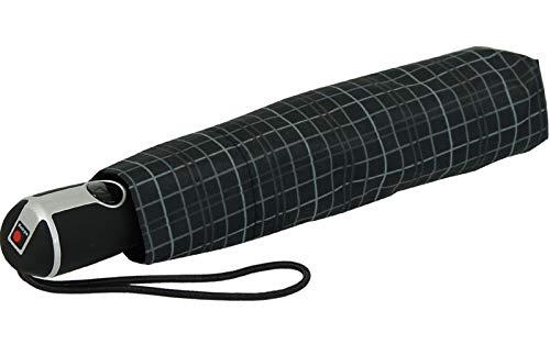 Knirps Regenschirm Taschenschirm Large Duomatic (Mens's Prints Check)