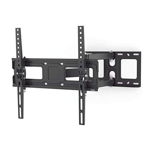 Hama TV Wandhalterung Schwenkbar, Neigbar (32 - 65 Zoll TV Halterung für Fernseher bis zu 35 kg, max. VESA 400x400, Ausziehbare Fernsehwandhalterung inkl. Fischer-Dübel & Bohrschablone) schwarz