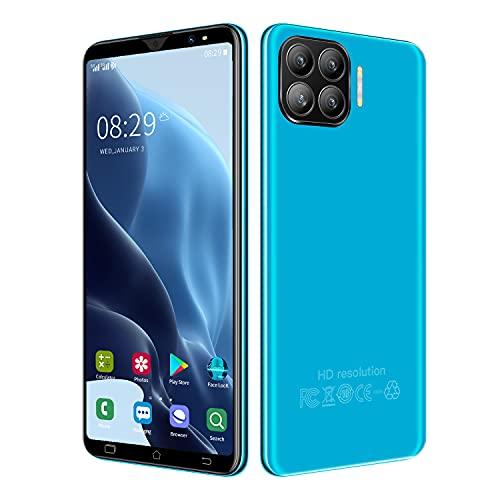 Cellulari Offerte,Okkfone i12Max 3G Dual SIM Dual Camera Smartphone Offerta Android Telefonia Mobile, 5.5'' Schermo,2800mAh Batteria,1+4GB/32GB Espandibili Cellulare (i12 Max-Blue)