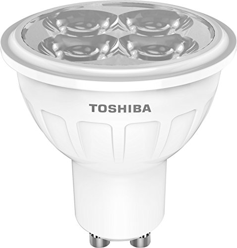 TOSHIBA 00601760433A Ampoule LED, Verre, GU10, 50 W, Blanc Froid