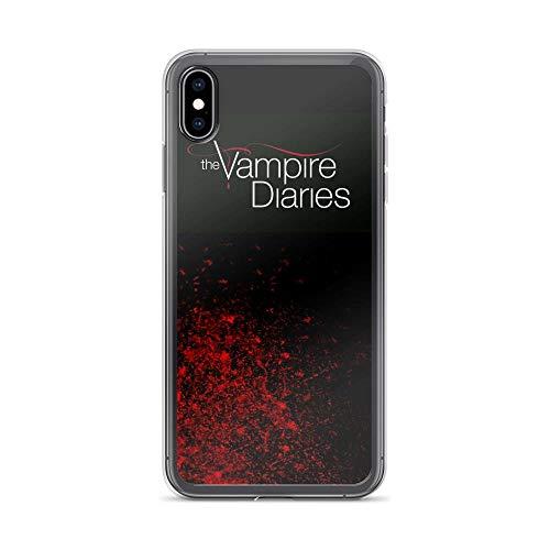 Funda para iPhone 6 6S 7 8 Plus X XS Max XR de Horseshoe's compatible con iPhone 6 6S 7 8 Plus X XS Max XR Case Vampire Diaries Fallen Leaf Supernatural Drama Pure Clear