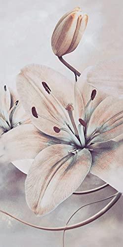 Conjunto de cuadros decorativos para pared en lienzo impreso, diseño de flores moderno y abstracto, para sala de estar, oficina o dormitorio, No nulo, como se muestra en la imagen, Tamaño libre
