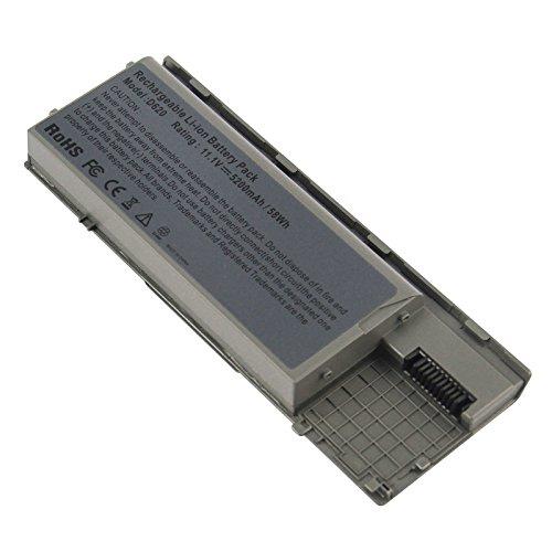 ARyee 5200mAh 11.1V D620 batería del Ordenador portátil de la batería para DELL Latitude D620 D630 ATG D630c NT379 JD634 TD175 312-0383, Gris metálico