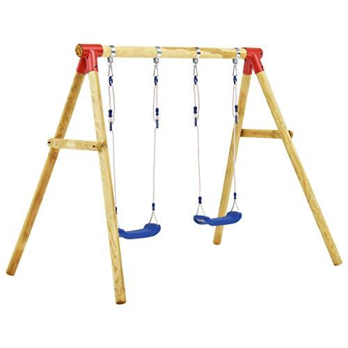 vidaXL Swing Set Double Adjustab...
