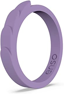 Enso Rings Feather Stackable Silicone Ring   Lifetime Quality Guarantee   The Premium Fashion Forward Silicone Ring   Comfortable, Breathable, and Safe