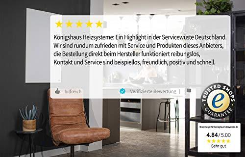 Könighaus Fern Infrarotheizung – Bildheizung in HD Qualität mit TÜV/GS – 200 Bilder – mit Thermostat 7 Tage Programm – 600 Watt (116. Schmetterling Sand) Bild 6*