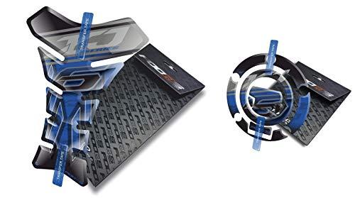Fooqs Tankpad y Cappad para Yamaha Yamaha Xj6 X J 6 (Azul)