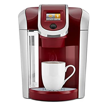 Keurig K475 Single Serve K-Cup Pod Coffee Maker with 12oz Brew Size, Strength Control, and temperature control, Vintage Red